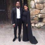 Kim Kardashian in Valentino Cape gown – Steve Stoute Wedding