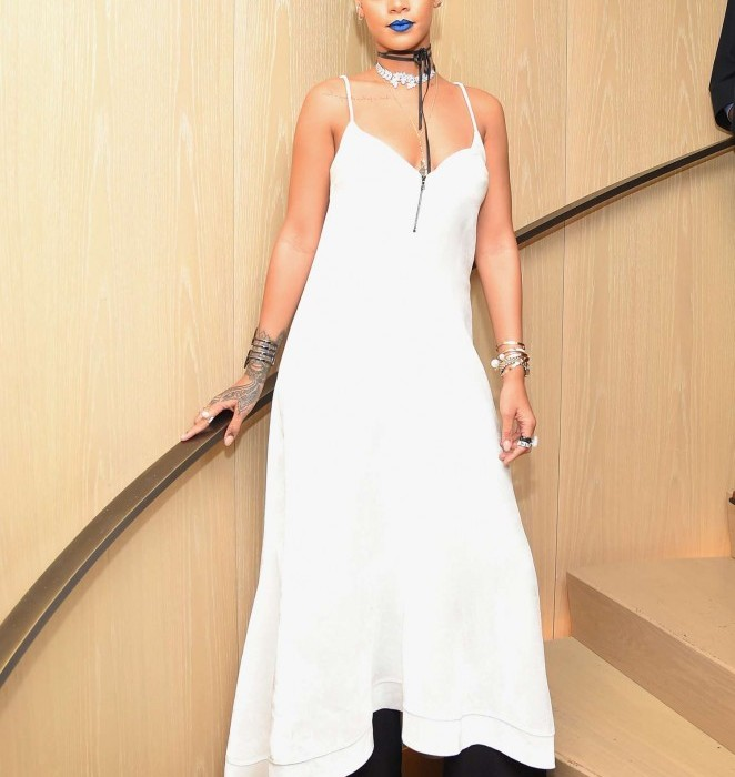 Rihanna  in  Sophia Webster  At Her New York  Fashion Week Party