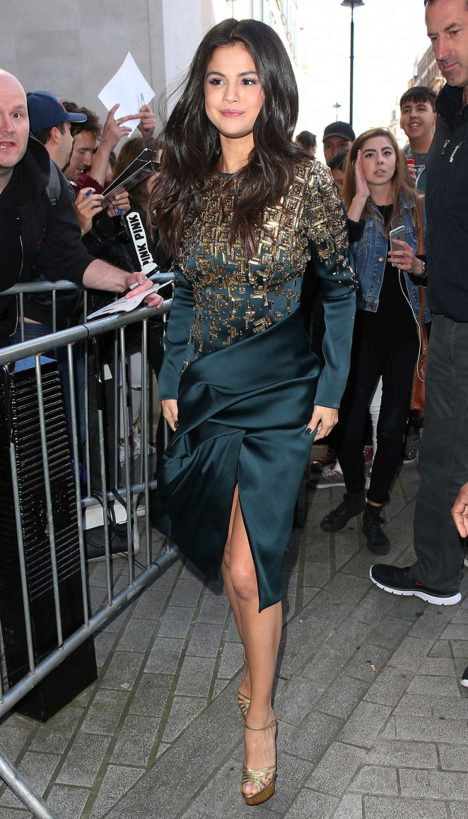 Selena-Gomez--Arriving-at-BBC-Radio