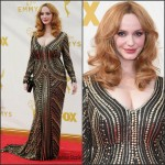 Christina Hendricks In Naeem Khan At The 2015 Emmy Awards