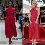 Claire Danes In Oscar de la Renta  At  Hollywood Walk of Fame Unveiling