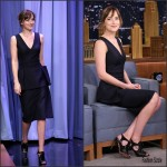 Dakota Johnson In Christian Dior At The Tonight Show Starring Jimmy Fallon