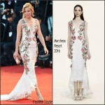 Elizabeth Banks In Marchesa  At 'A Bigger Splash' Venice Film Festival Premiere