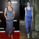 Emily Blunt in  Ulyana Sergeenko Couture – 'Sicario' New York Premiere