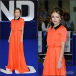 Emily Browning In Roksanda At  'Legend' London Premiere