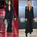 Heidi Klum in Versace at the 'America's Got Talent' Season 10 Live Viewing Party