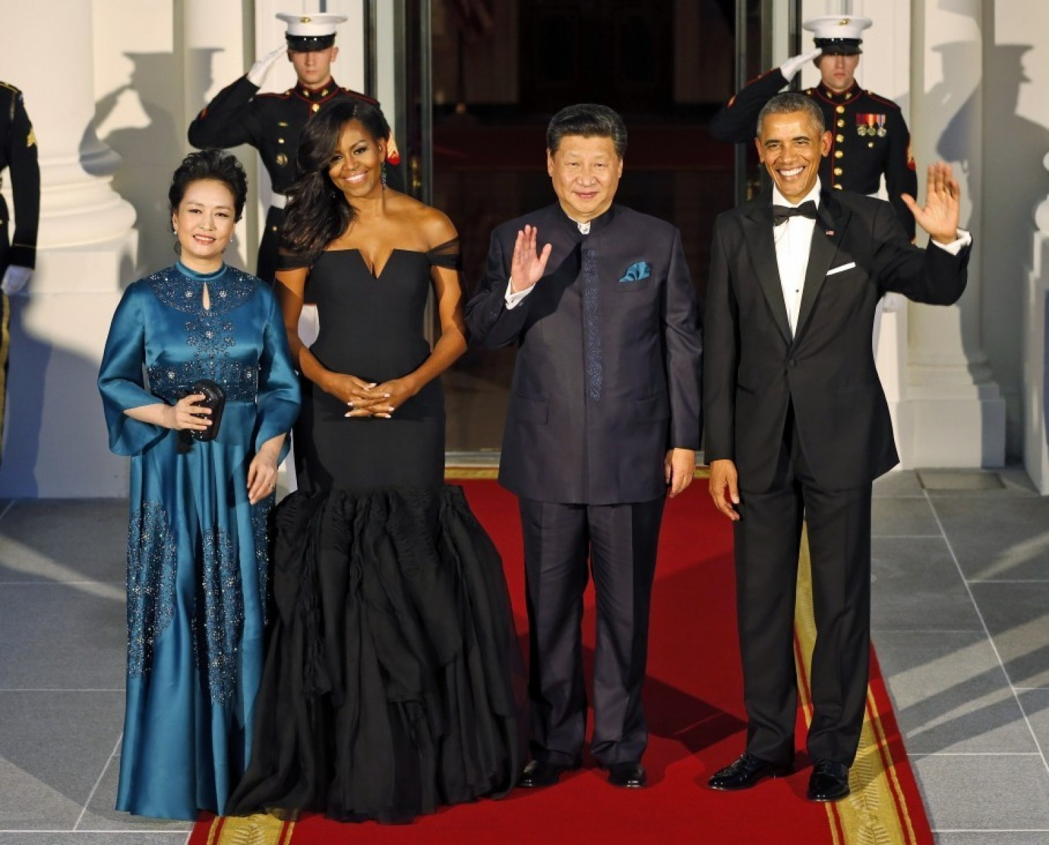 michelle-obama-in-vera-wang-2015-white-house-state-dinner