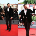Jake Gyllenhaal  in Salvatore  Ferragamo – 'Everest' Venice Film Festival Premiere & Opening Ceremony