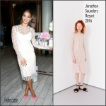 Jessica Alba in Jonathan Saunders – Honest Beauty Launch
