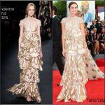 Kasia Smutniak in Valentino AT  'Everest' Venice Film Festival Premiere & Opening Ceremony