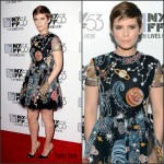 Kate Mara In Valentino  At 'The Martian' New York Film Festival Premiere
