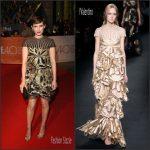 Kate Mara in Valentino – 'The Martian' Toronto Film Festival Premiere