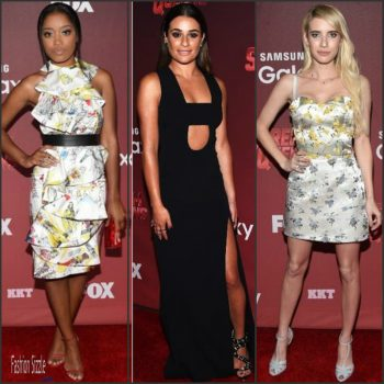 keke-palmer-lea-michelle-emma-roberts-at-the-scream-queens-la-premiere