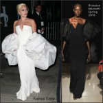 Lady Gaga In Brandon Maxwell  AT 2015  Emmy Awards Fox After Party