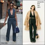 Lupita Nyong'o In Alessandra Rich At   The Late Show with Stephen Colbert