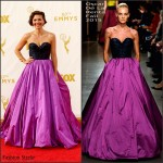 Maggie Gyllenhaal In Oscar de la Renta  At 2015 Emmy Awards