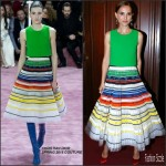 Natalie Portman In Christian Dior Couture At  Opening Season Paris Opera Ballet Party