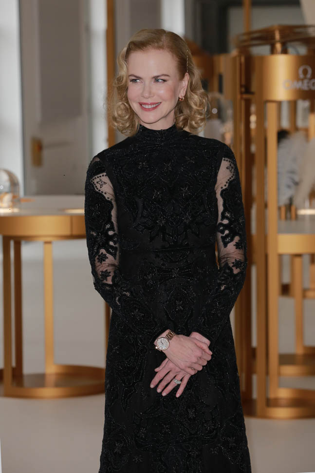 """Nicole -Kidman -attends- Omega """"Her -Time""""- vernissage -in- italy"""