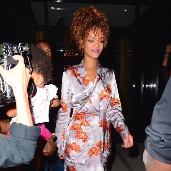 rihanna-sonya-benson-nyc-wedding-dries-van-noten-daisy-floral-print-wrap-front-robe-dress
