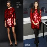 Selena Gomez in Preen Visiting Kiss FM London