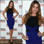 Sofia Vergara in Versace at the Ninja Coffee Bar Launch