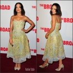 Tessa Thompson In Reem Acra At  The Broad Museum Black Tie Inaugural Dinner