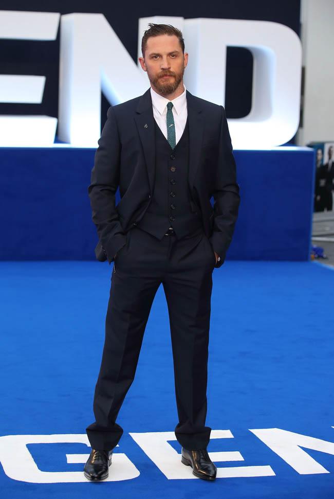"""tom-hardy- """"Legend"""" - UK -Premiere - Red Carpet\"""