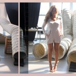 Beyonce   in   Intermix Lily Pleated Romper