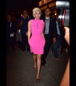 Lady Gaga in MSGM  – Out In  New York