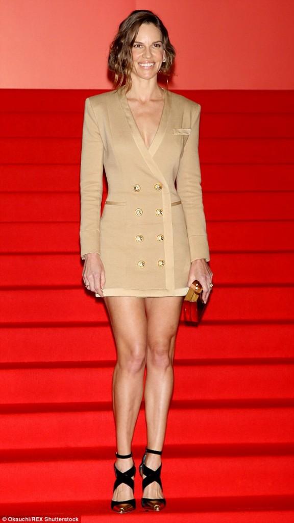 Hilary -Swank -in- Alexander -McQueen– 'You're Not You' -Tokyo- Film -Festival -Premiere