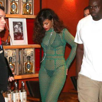 Rihanna-in-Green-Mesh-Dress-09-662×993