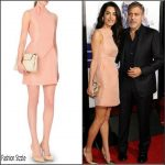 Amal Clooney In Roland Mouret At  'Our Brand Is Crisis' LA Premiere