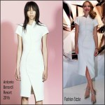 Amanda Seyfried in Antonio Berardi at the Shiseido Tokyo Event
