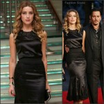 Amber Heard In Dolce & Gabbana  At  'Black Mass' London Film Festival Premiere
