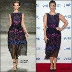 Bellamy Young in Lela Rose at PETA's 35th Anniversary Party
