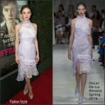 Carey Mulligan In Oscar de la Renta At 'Suffragette' LA Premiere