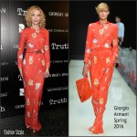 Cate Blanchett In Giorgio Armani  At 'Truth' New York Screening