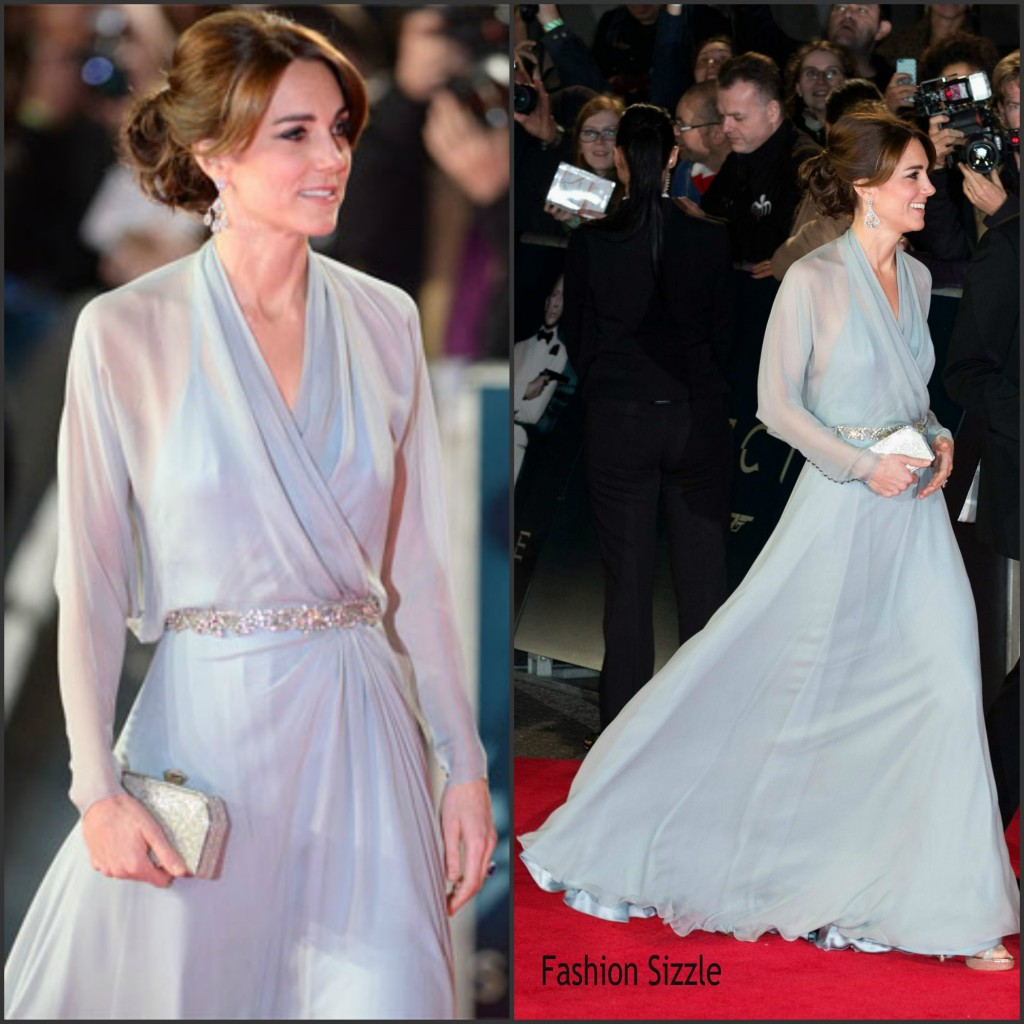 Catherine duchess of cambridge and her husband attended the spectre