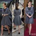 Catherine,Duchess of Cambridge  in Orla Kiely  –  Visit to Chance UK's Early Intervention Programme
