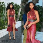 Chanel Iman  In   Altuzarra- CFDA Vogue Fashion Fund Show and Tea in LA