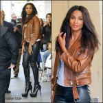Ciara in Leather Pants Leaves MTV Studios in NY