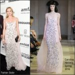 Diane Kruger In Carolina Herrera  At  amfAR's Inspiration Gala Los Angeles