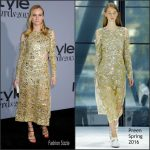 Diane Kruger In Preen  At  2015 InStyle Awards