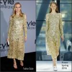 Diane Kruger In Preen  At  2015 InStyle Awards