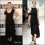 Elizabeth Olsen In Proenza Schouler  At 'I Saw The Light' Nashville Premiere