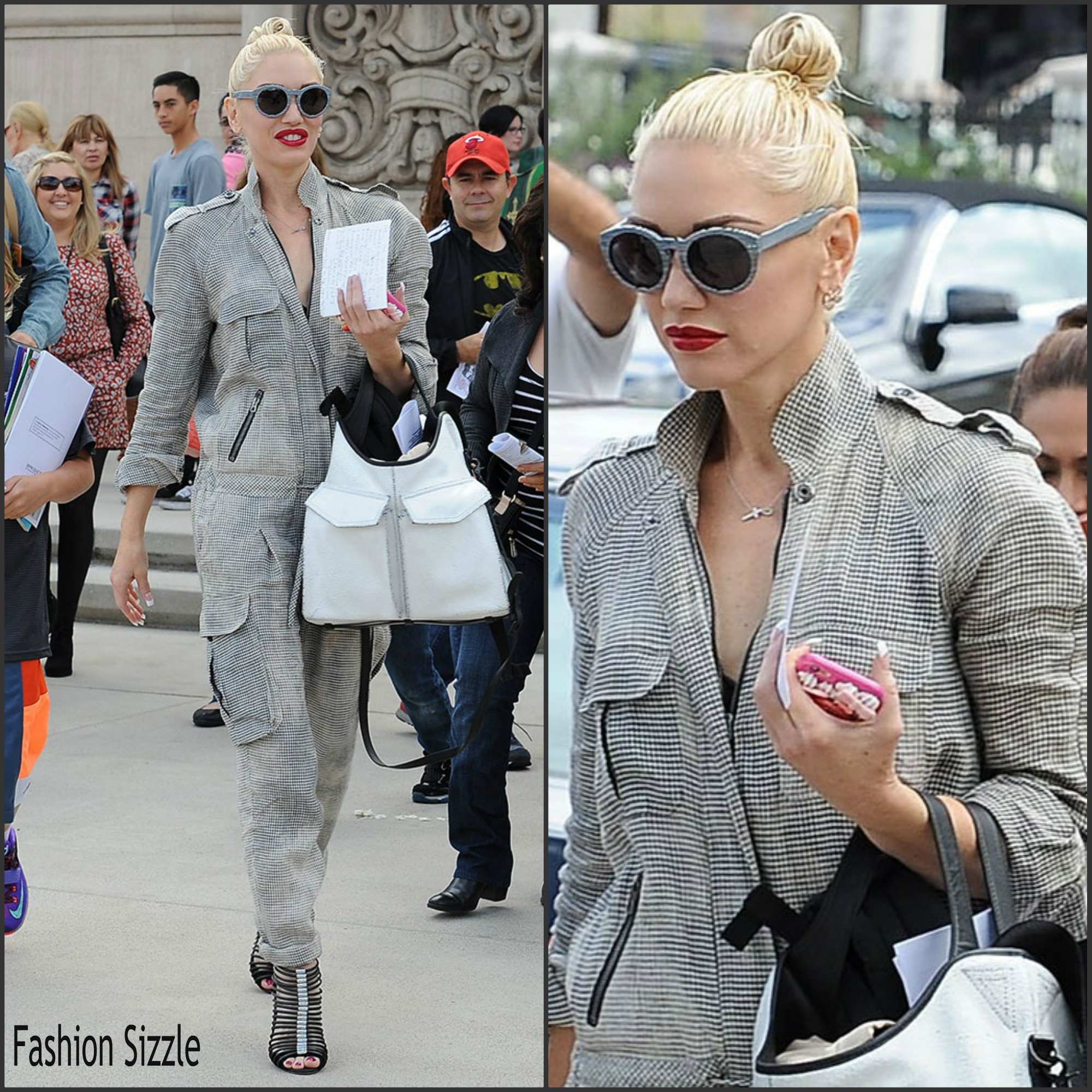 107593800031 Gwen Stefani in Check Jumpsuit – Out In LA. by fashionsizzle ...