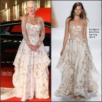 Helen Mirren In Badgley Mischka  At Tokyo International Film Festival 2015 Opening Ceremony