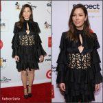Jessica Biel In Balmain At  2015 GLSEN Respect Awards