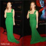 Jessica Chastain In Lanvin  At  'Crimson Peak' New York Premiere