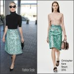 Kate Bosworth In Christopher Kane  At  LAX Airport